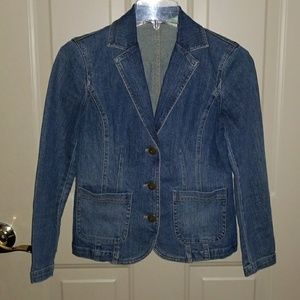 Liz Claiborne Fitted Jean Jacket size Petite